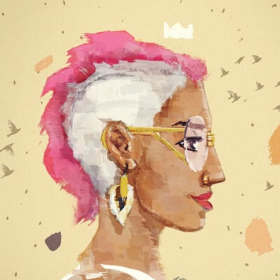 Franko schiermeyer portrait hip hop girl matte painting 2000px web