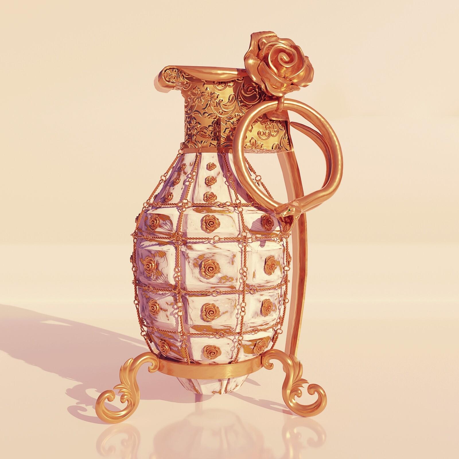 Pyrobolus Convenusto - Gold Vein Marble