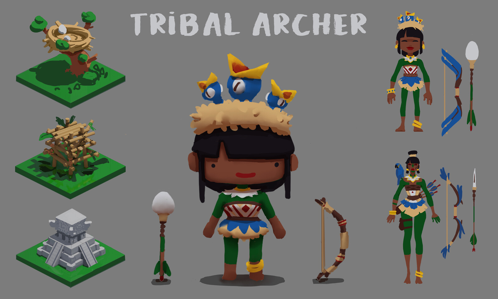 Tribal Archer Art Test