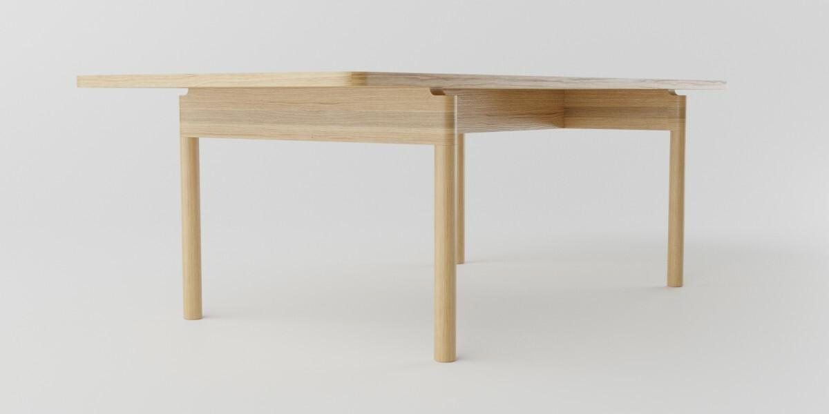 Table low, showing leg detail