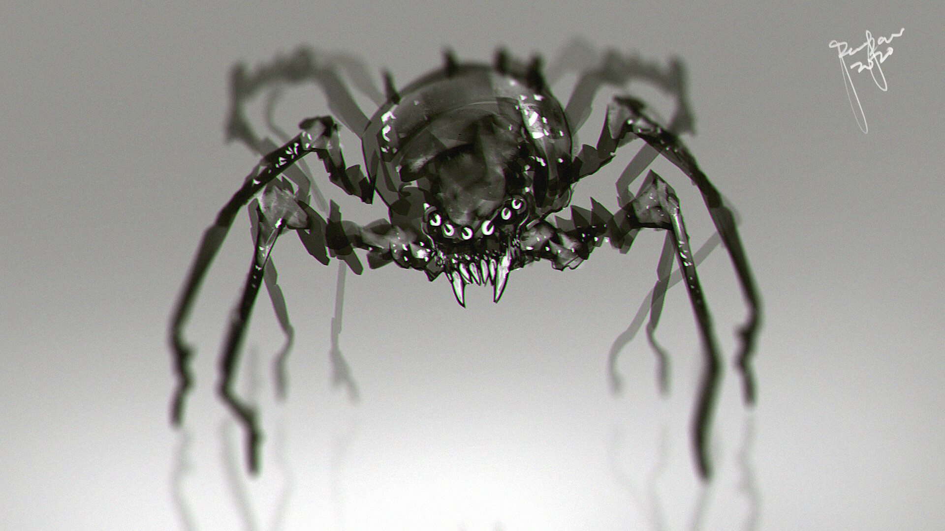 concept art - spider creature