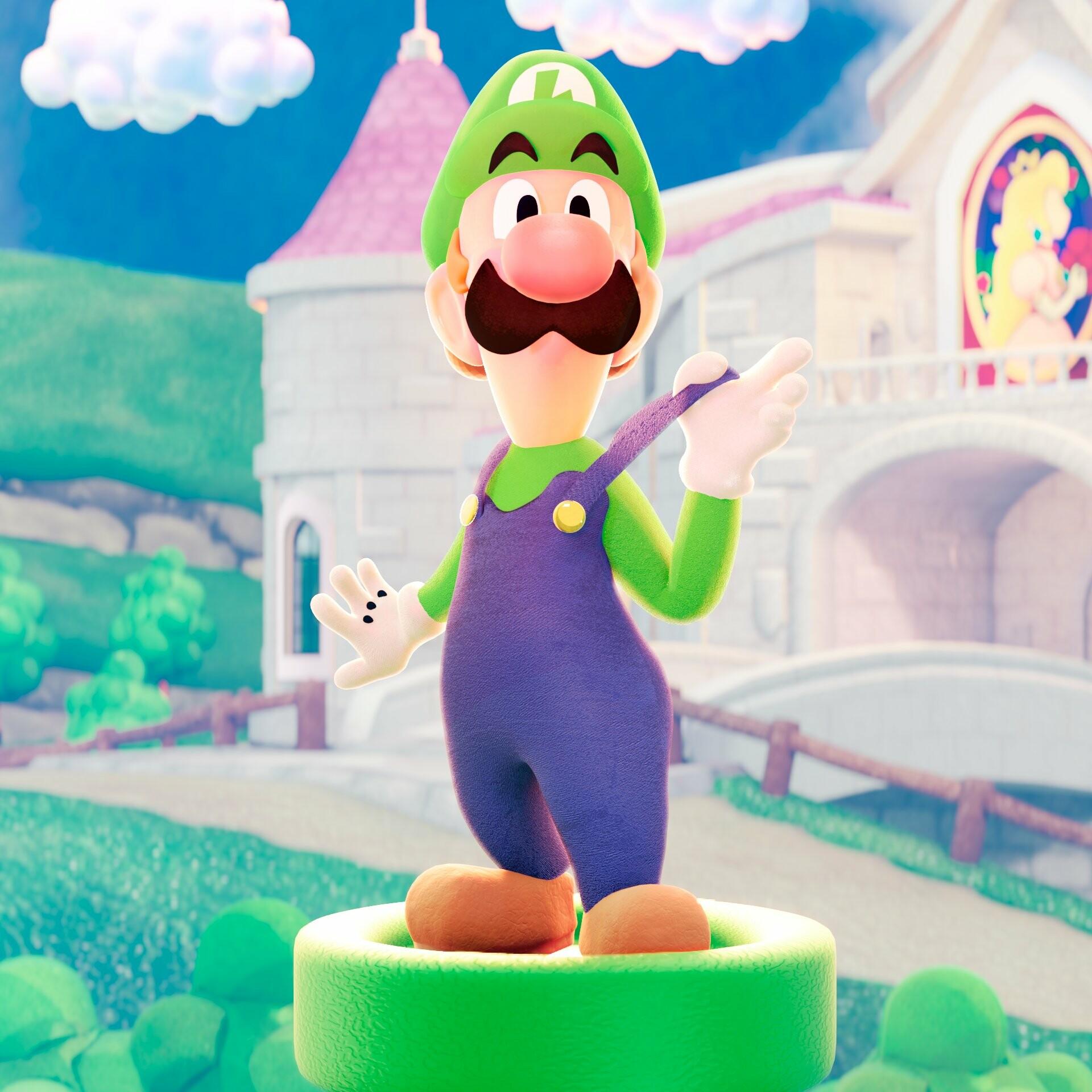 Artstation Luigi Original Design By Mario Luigi Dream Team