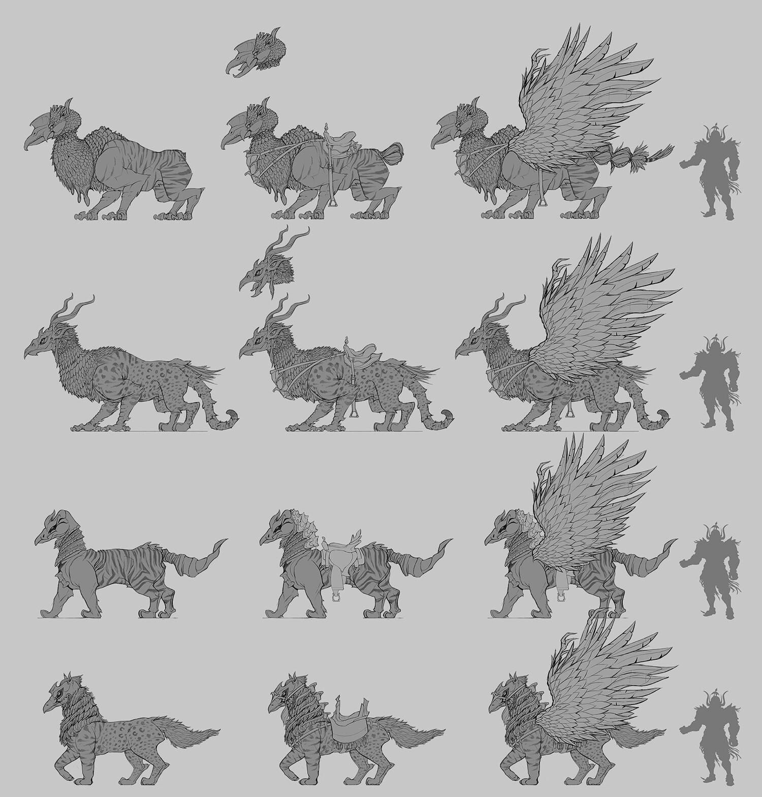 Creature design sketches