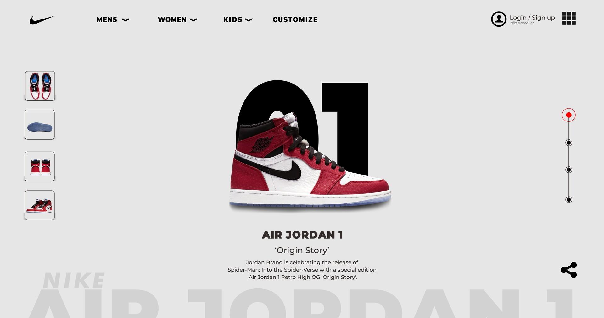 Confuso Capataz Fortaleza  Matee -o - Concept Web Design Nike