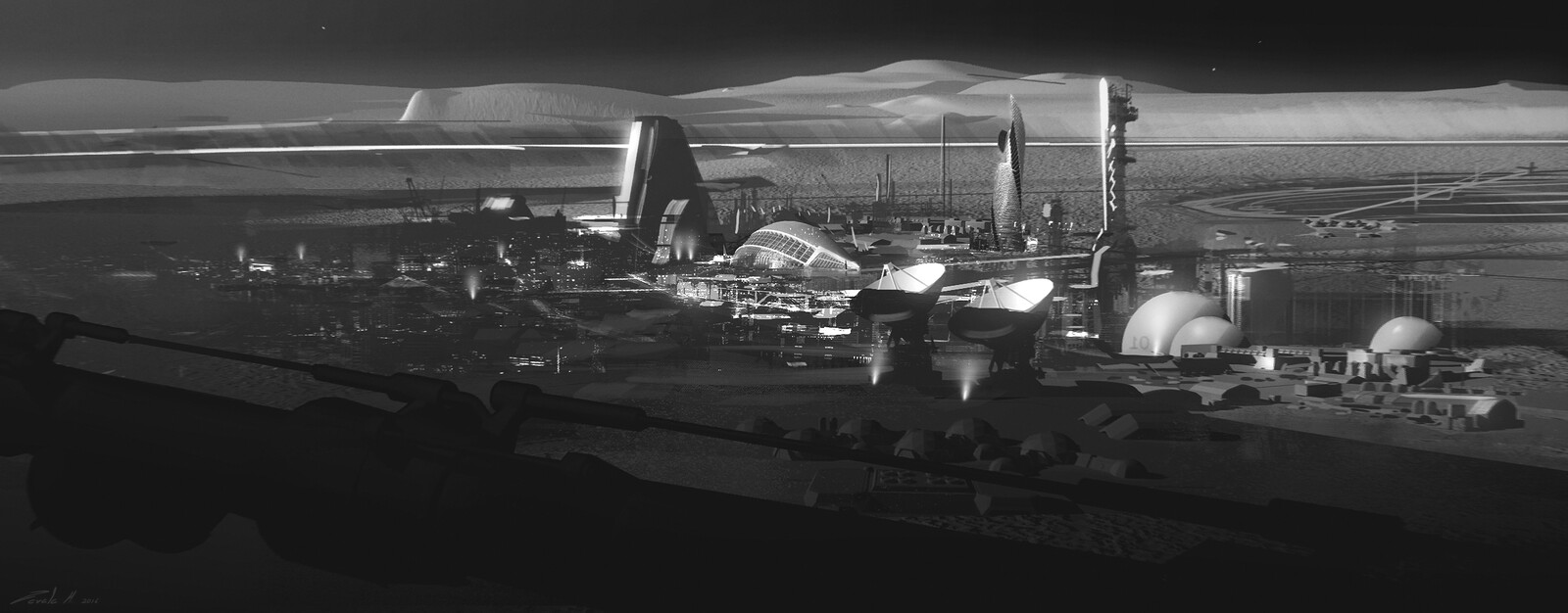 Lunar Hub sketch. Finnian MacManus was the one was responsible of designing the hub. Highly recommend checking his work out!