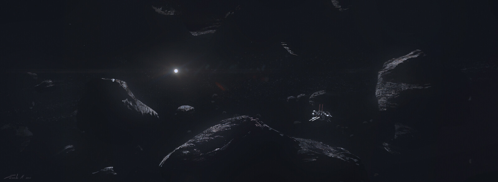 Crossing the asteroid field between Mars and Jupiter