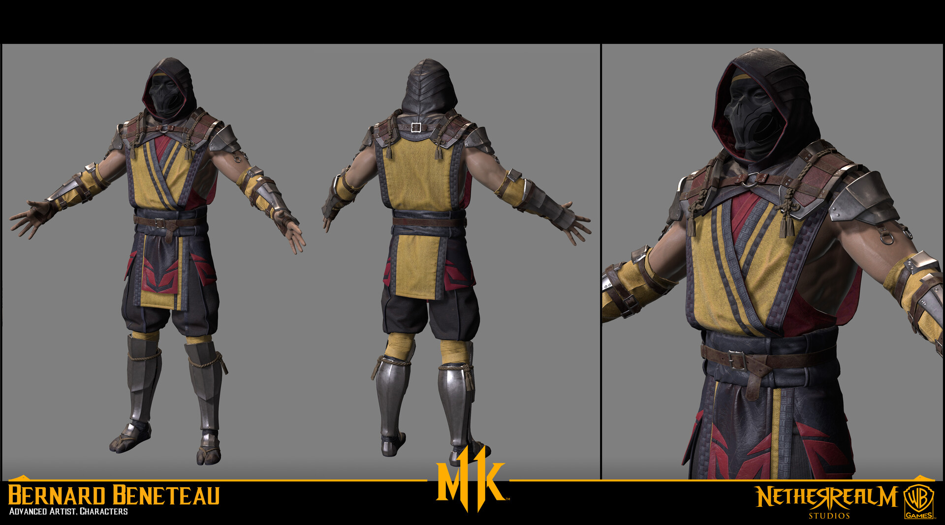 mortal kombat scorpion artstation