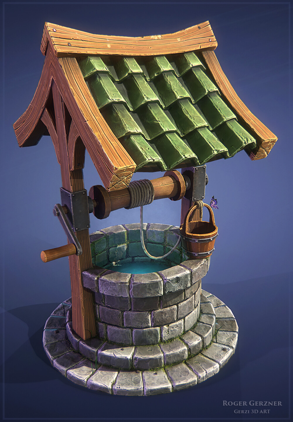 Stylized Wishing Well