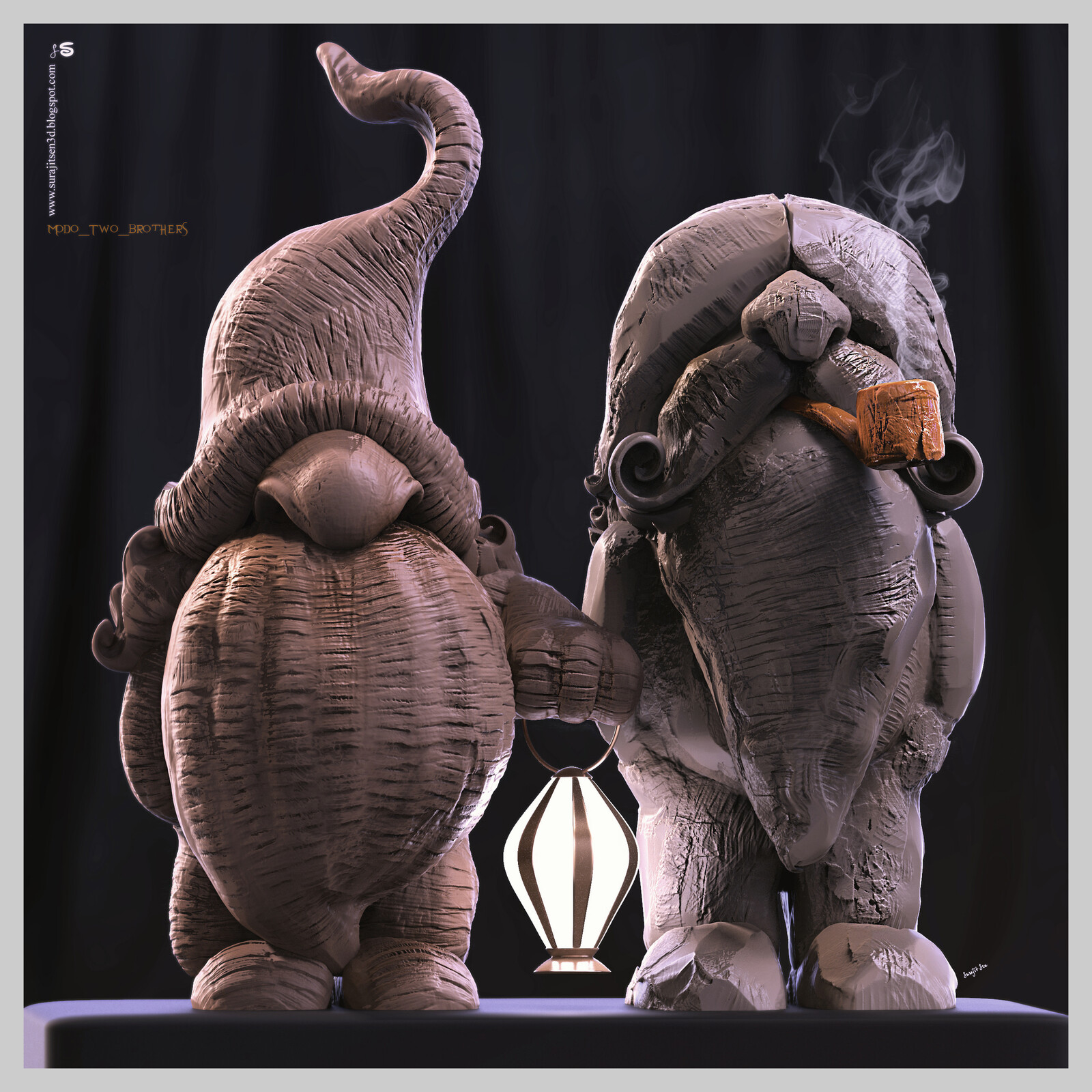 Fun with brushes. Modo_Two_Brothers Digital Sculpture. Wish to share.. :) Background music- #hanszimmermusic