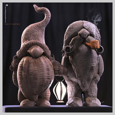 Surajit sen modo two brothers digital sculptures surajitsen may2020a