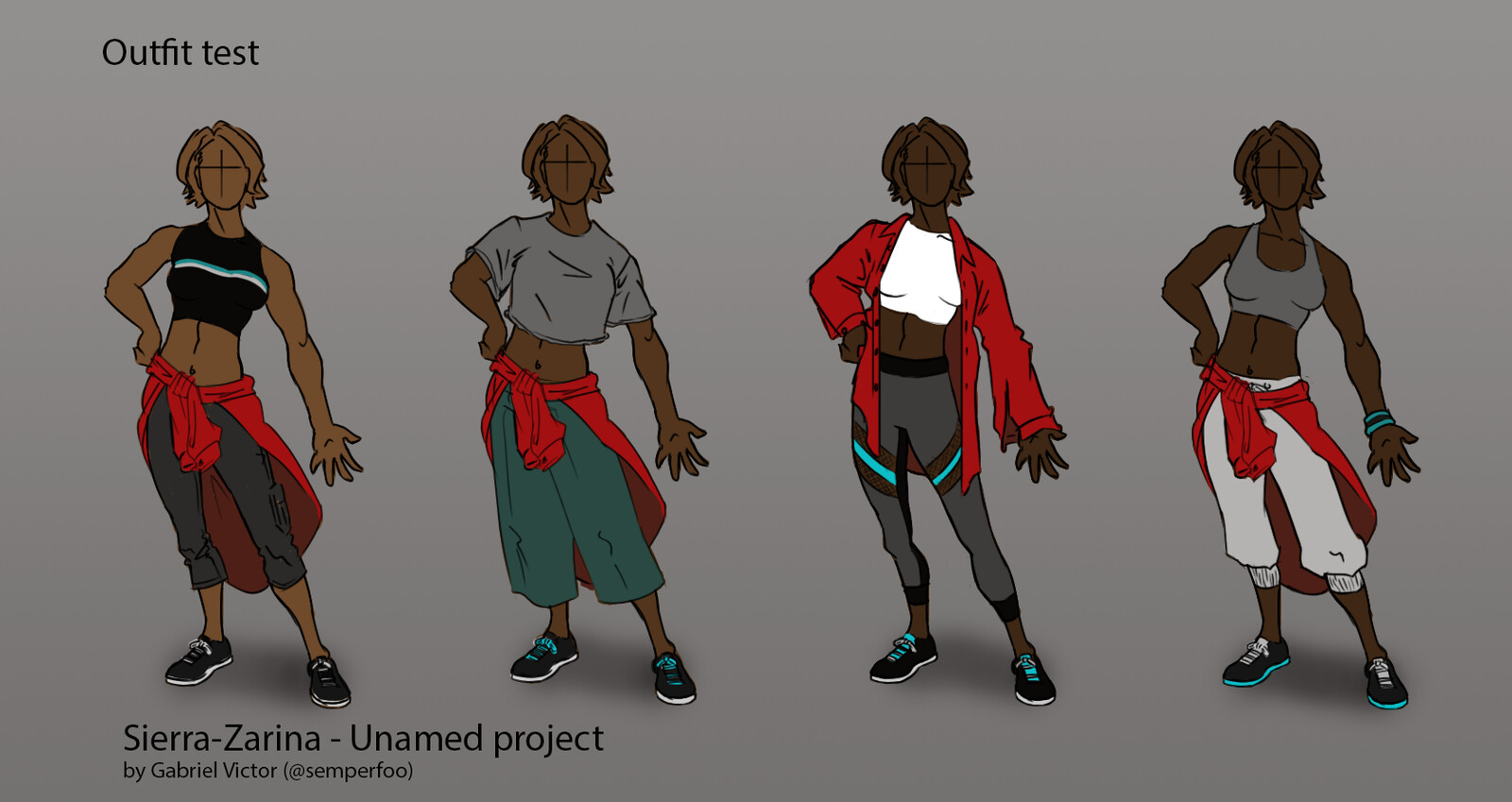 Character outfit and skin tone test