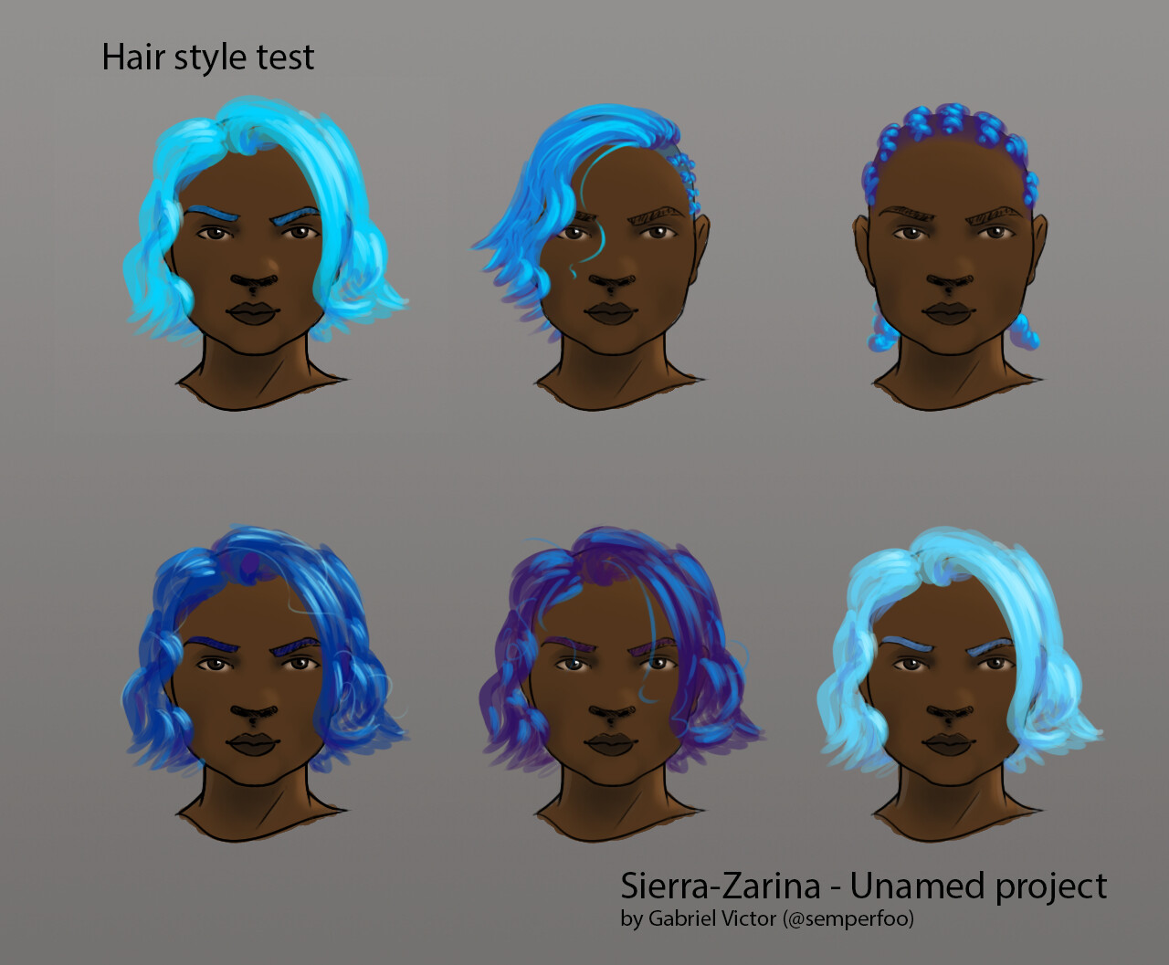 Hair style and color test