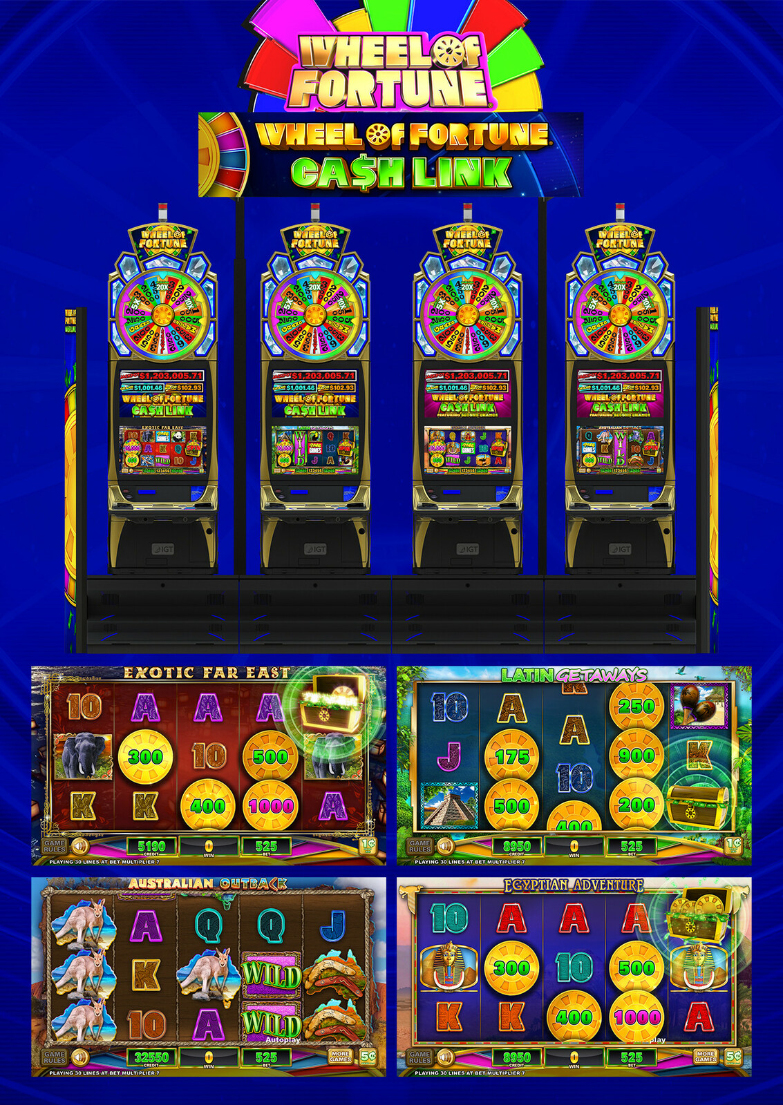 Wheel of Fortune® Cash Link™ Video Slots by IGT