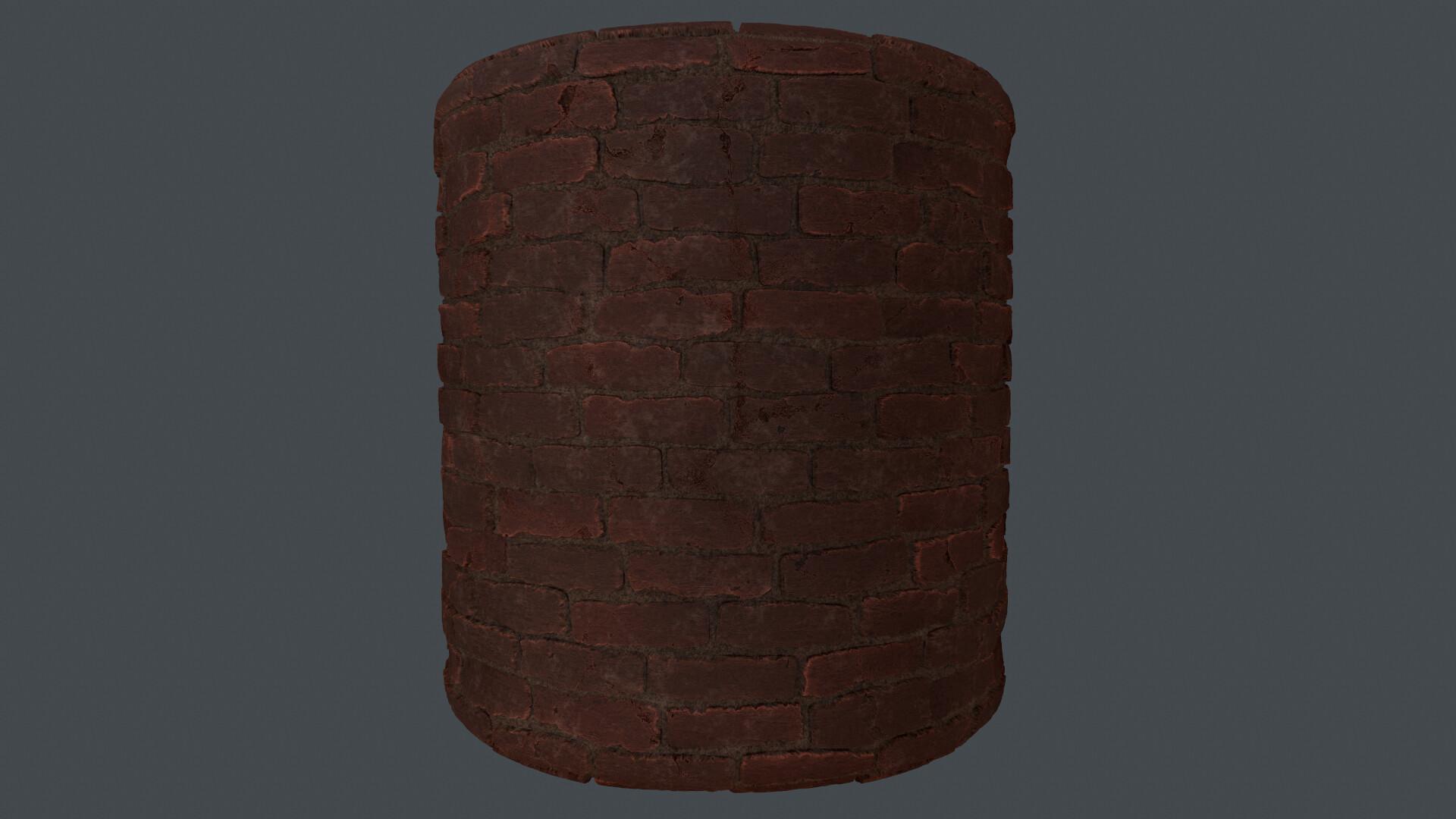 brick material made in substance designer
