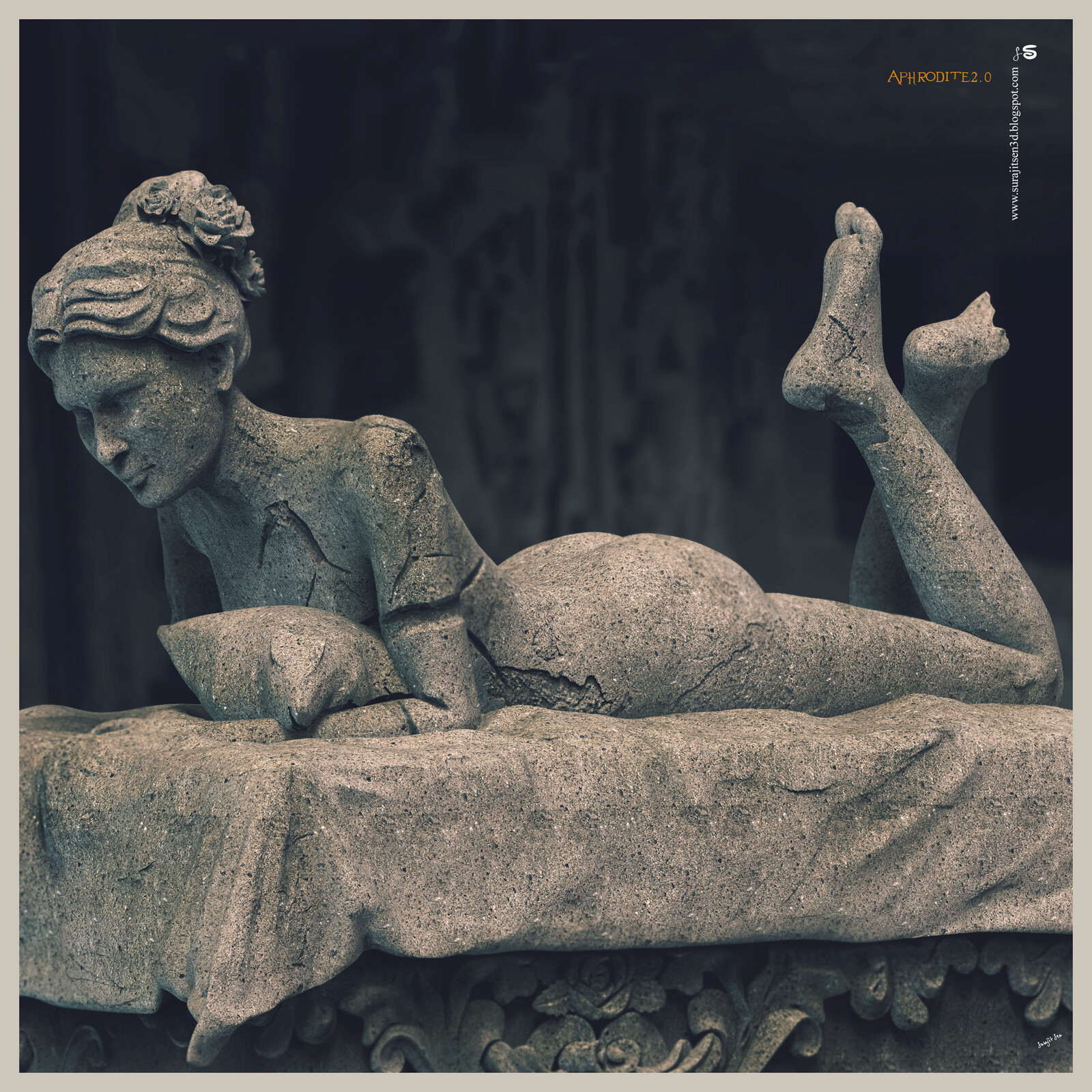 Aphrodite2.0 One of my old Sculptures.. Updated version Background music- #hanszimmermusic