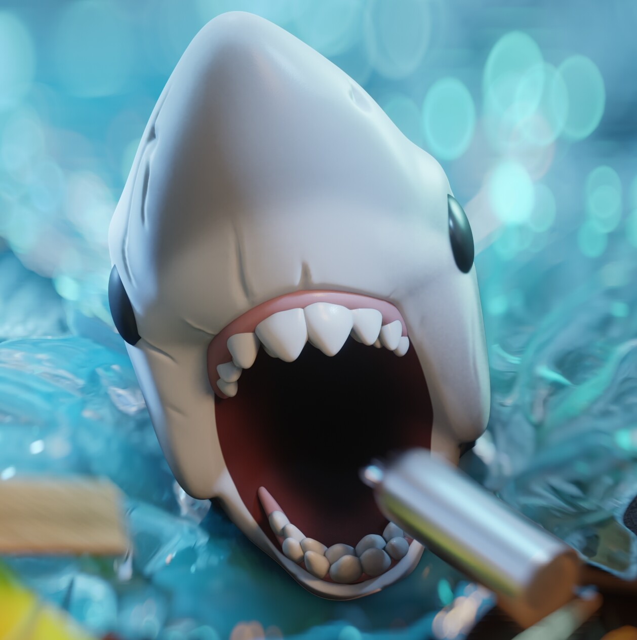 jaws character close-up
