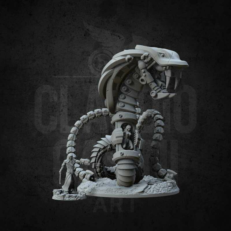 11 cm - 4,3 in sci-fi monster