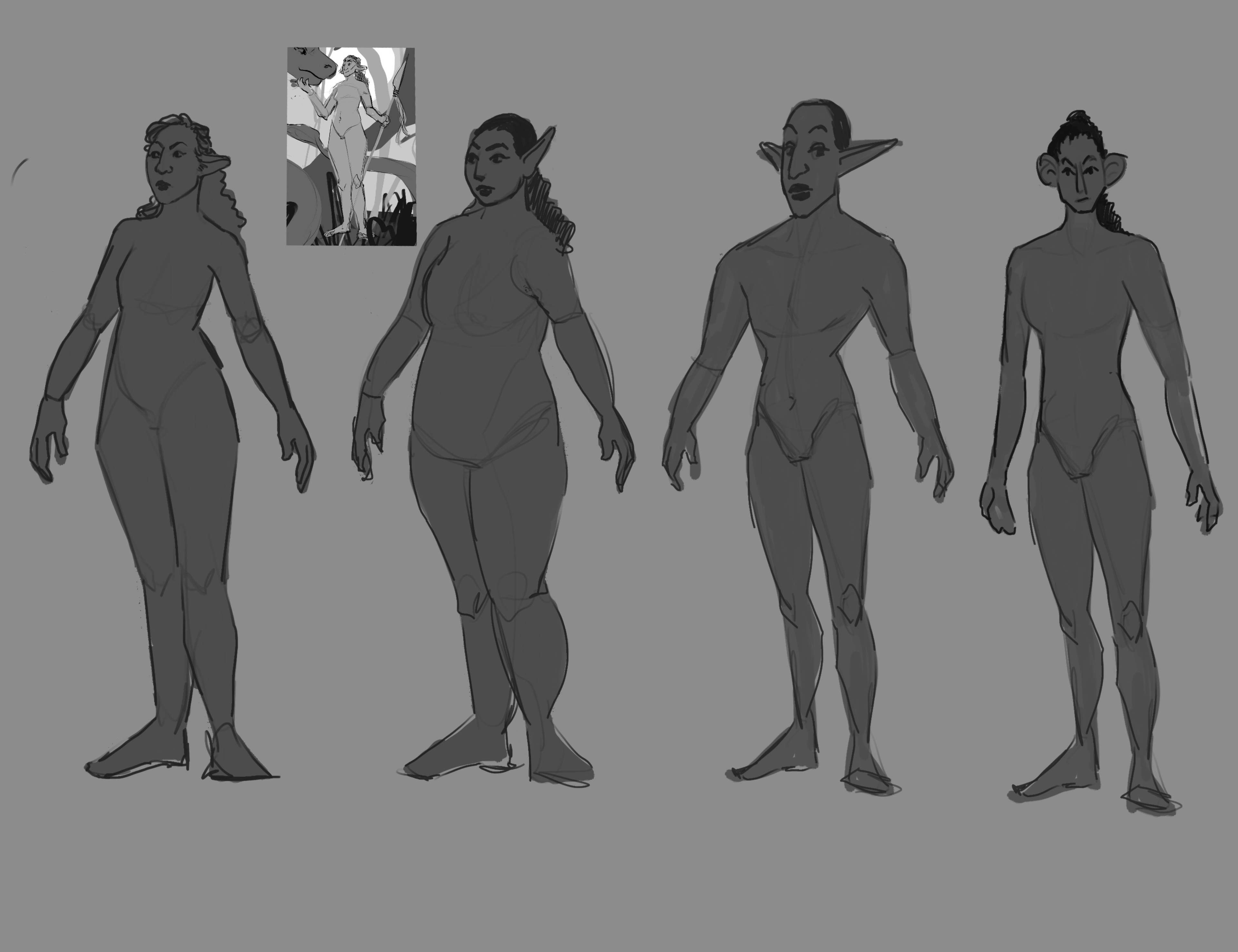 Body type ideation for Sarona