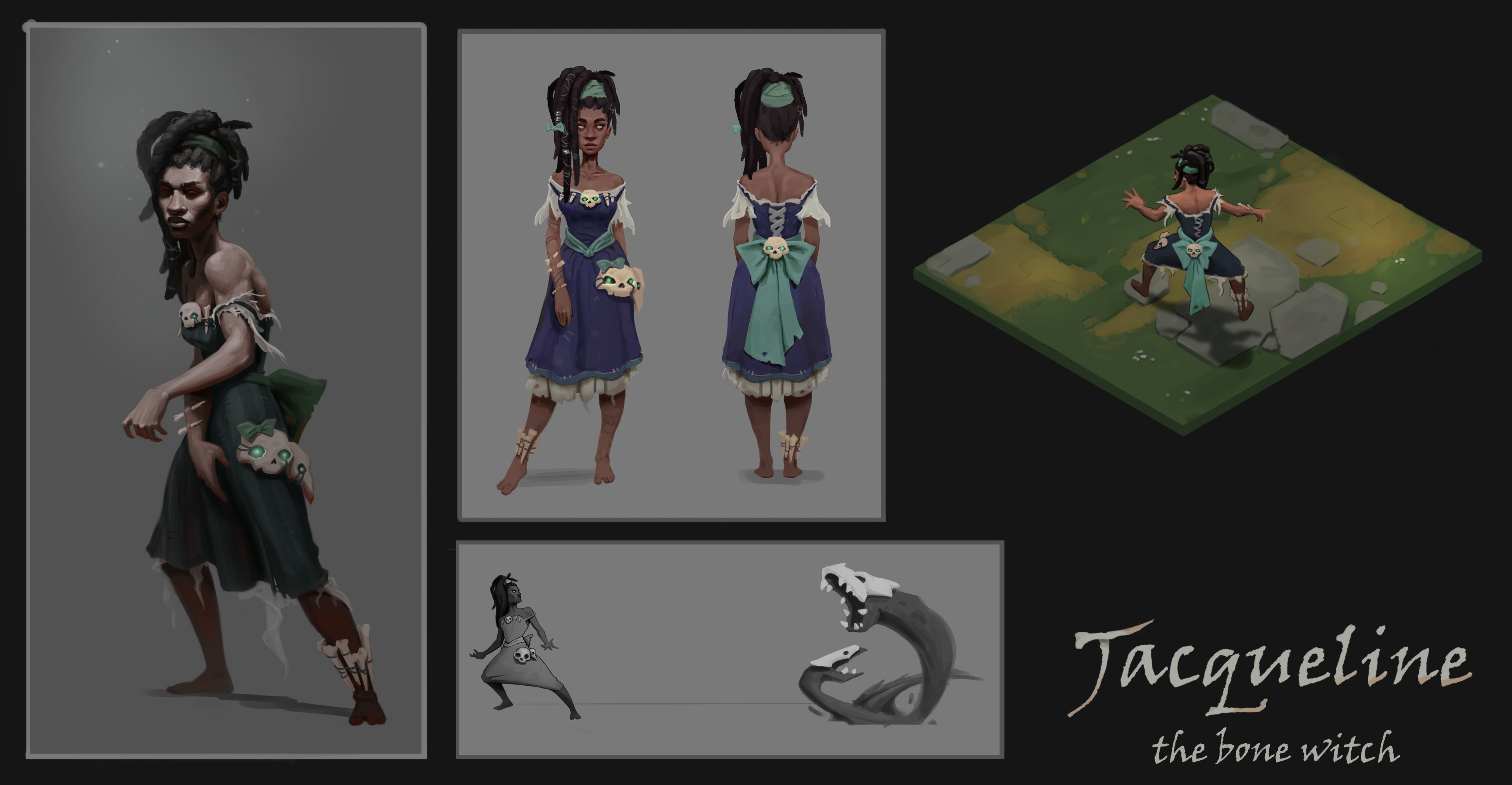 Final design, mood painting and an in game concept painting.