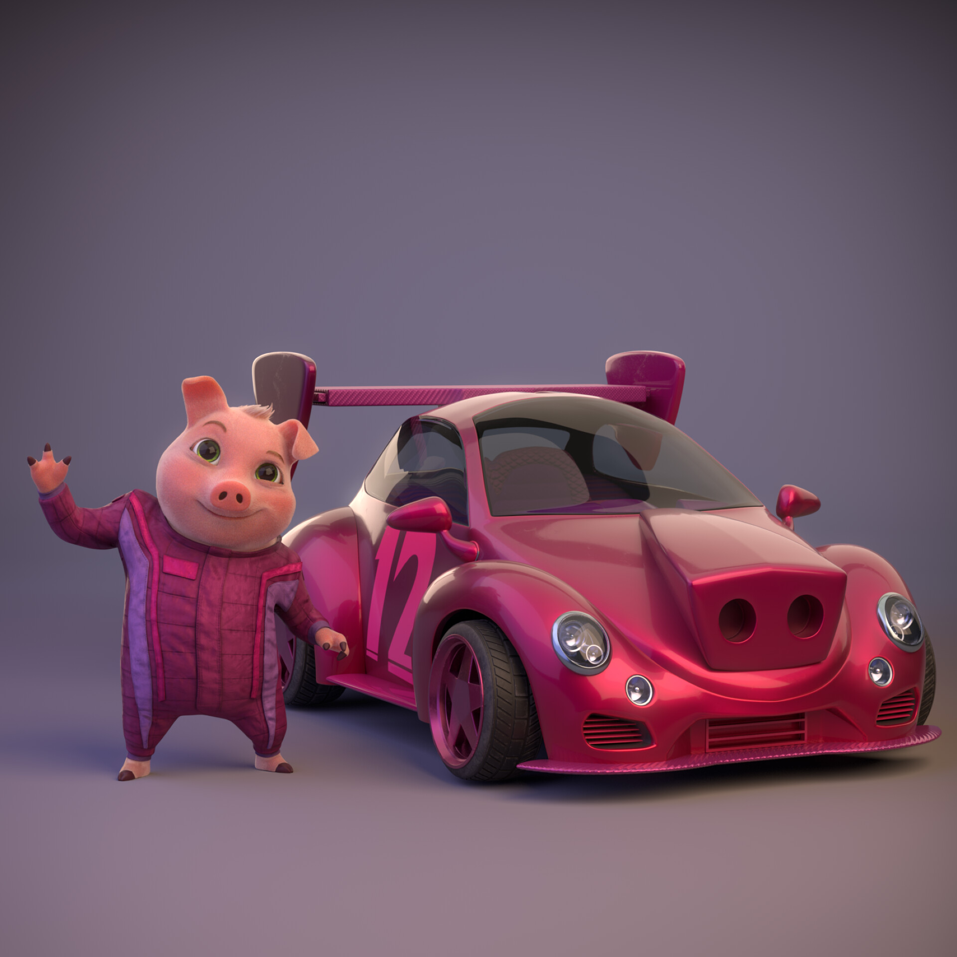 Pig and vehicle