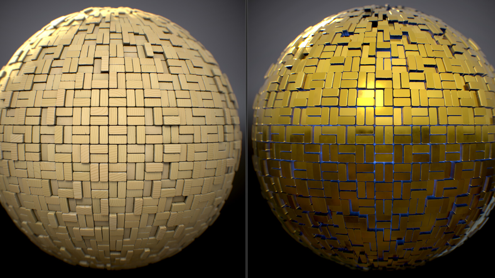 One of the decor panels and a variation of the substance.
