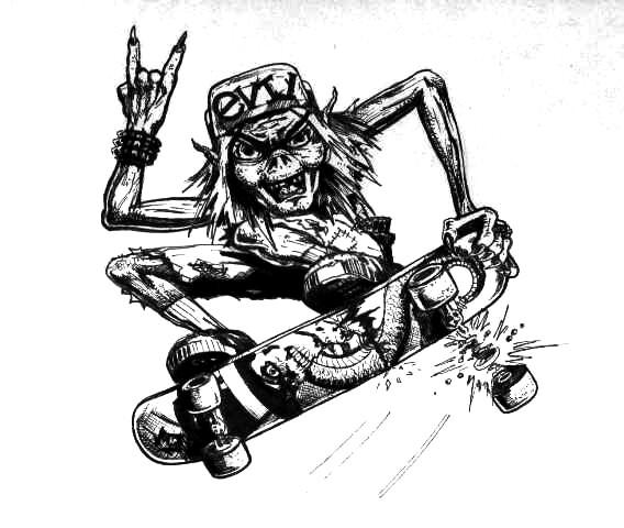 Skater Grom-lin!