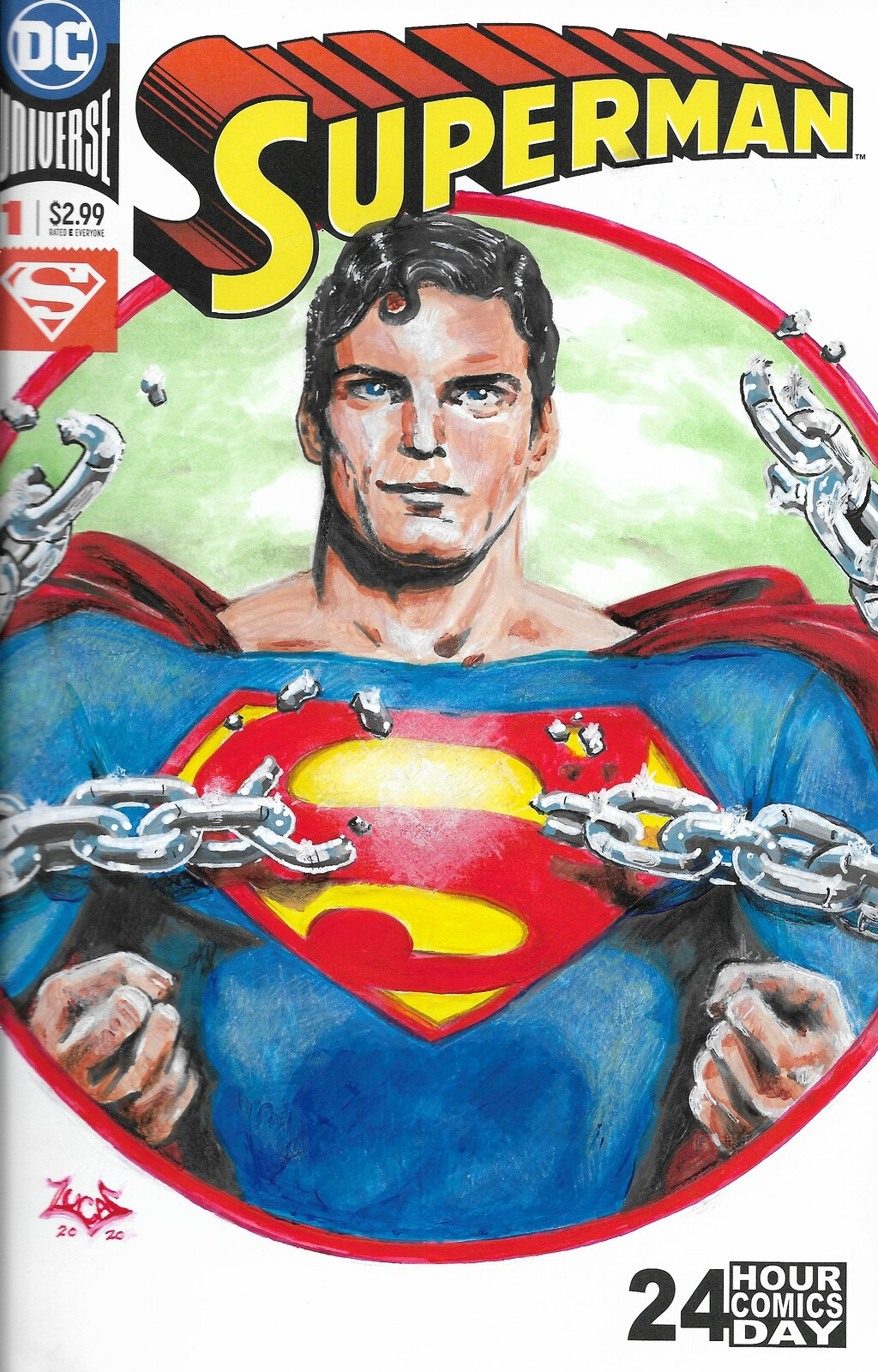 Reeves Superman Sketch Cover