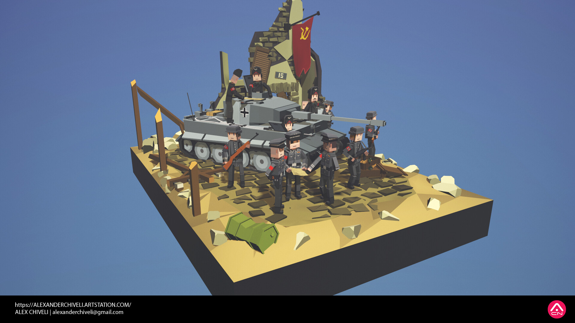 World war 2 diorama