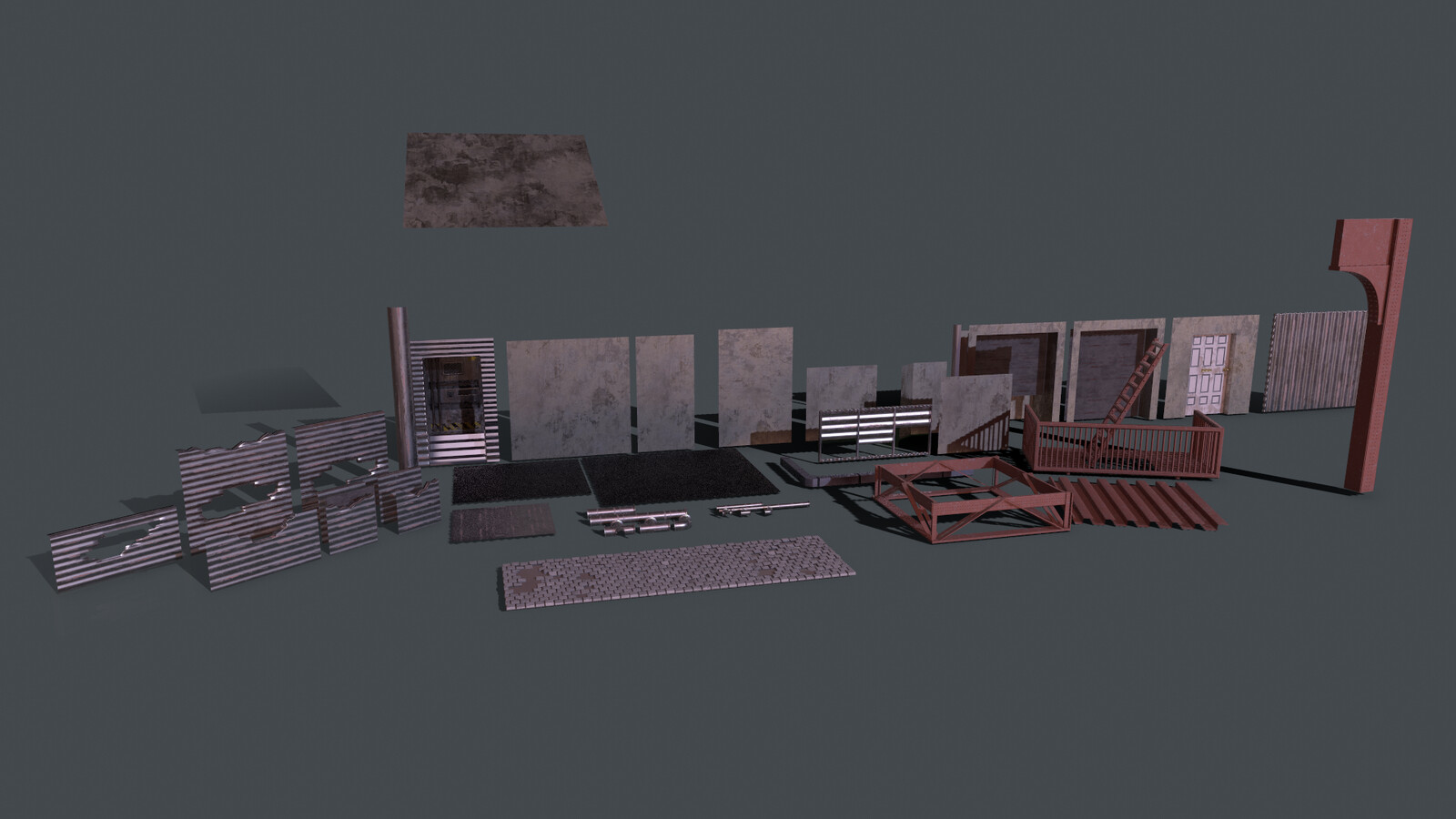 All the Building Meshes I used
