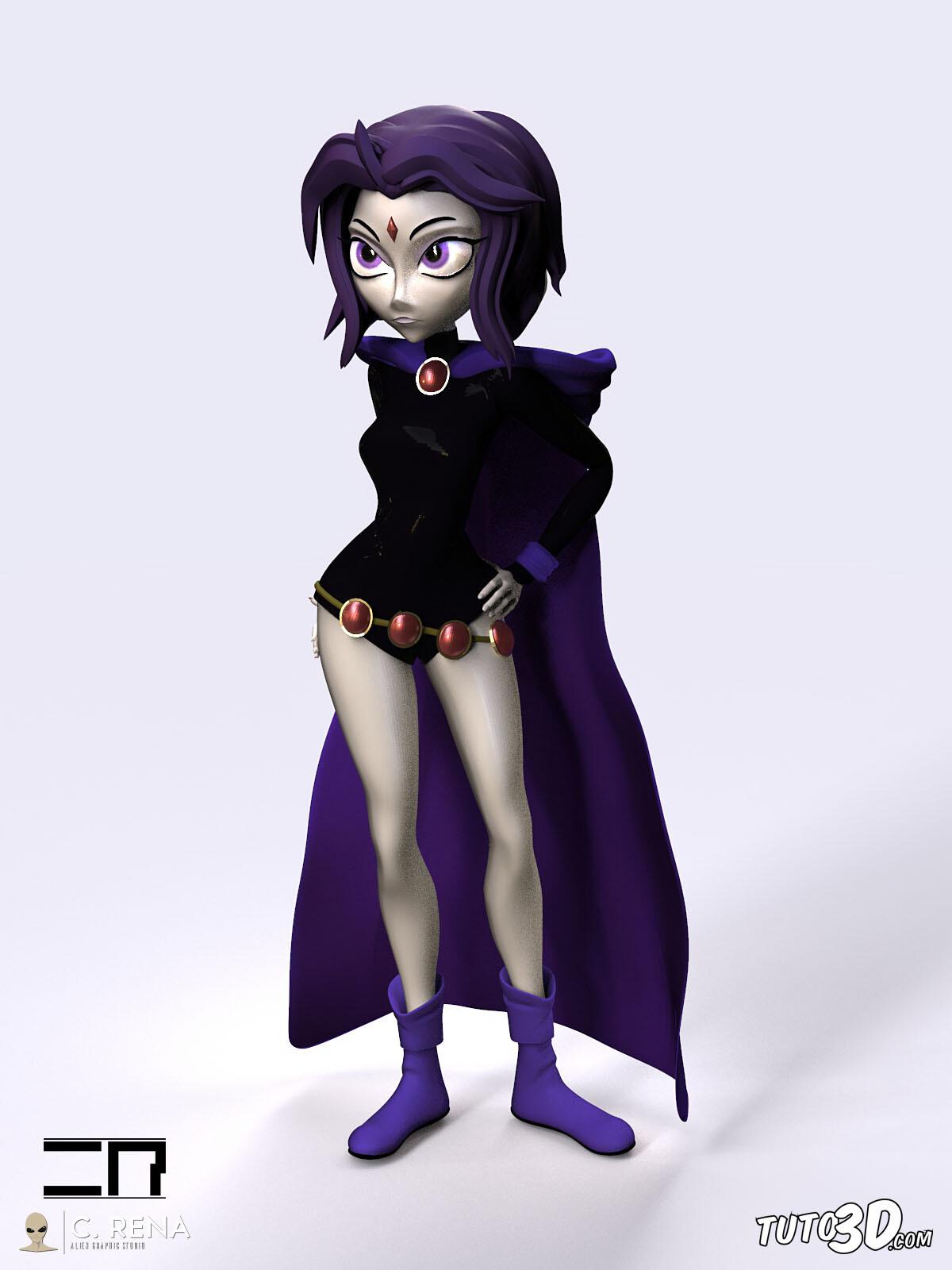 DC Raven (stylized)