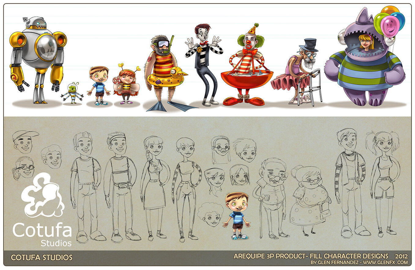Concepts for the extra characters.