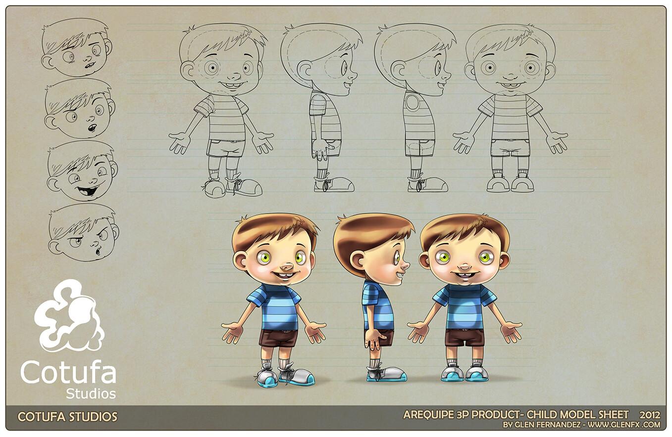 Kid model sheet.