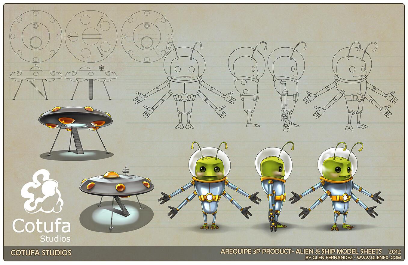 Alien model sheet.