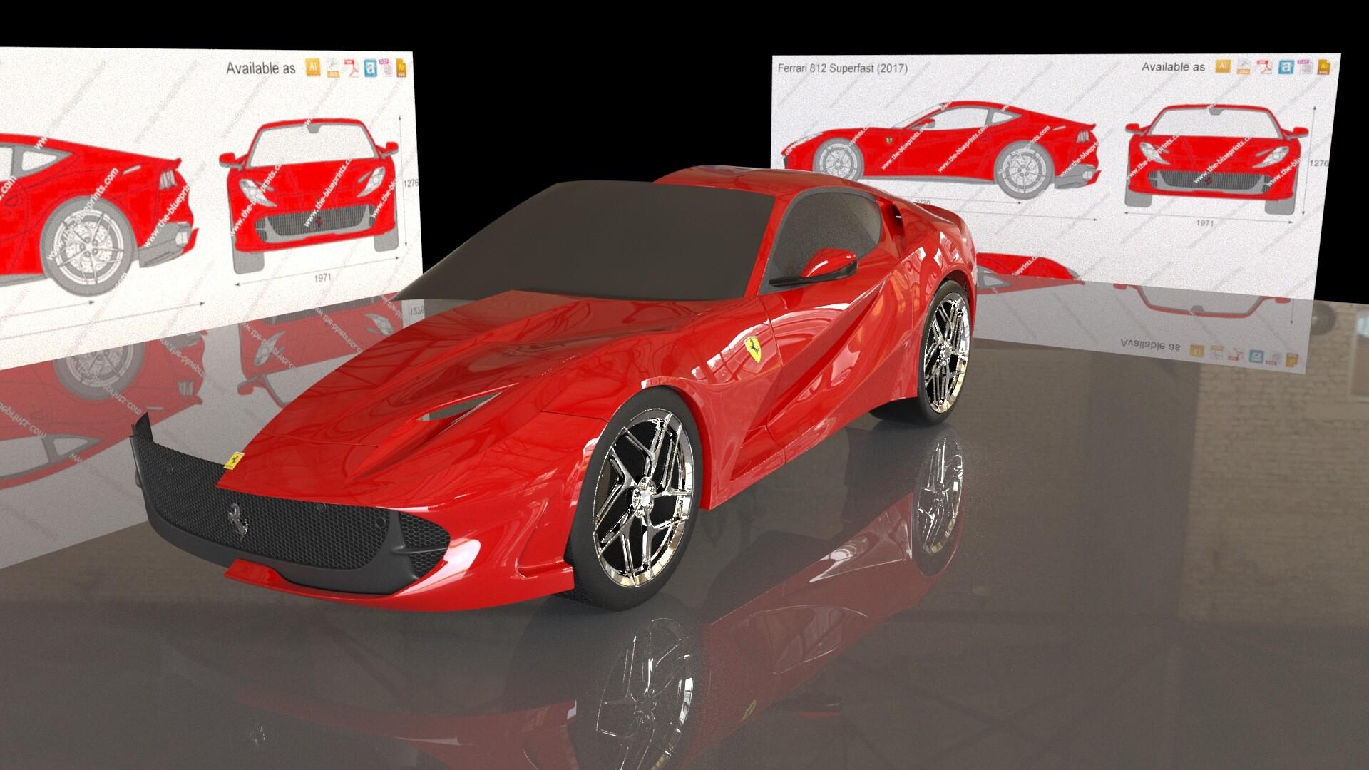 Ryan Shaw Ferrari 812 Superfast Wip