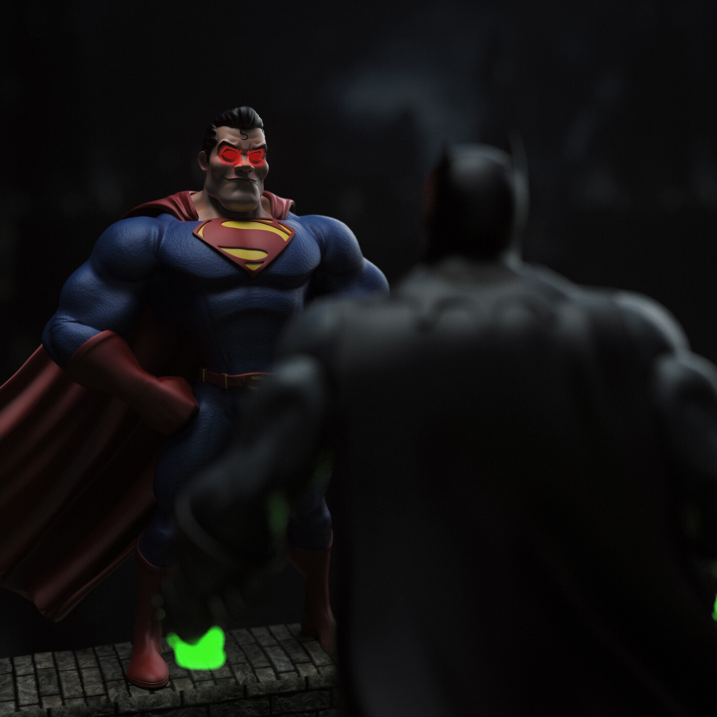 Superman: Next time they shine your light in the sky, don't go to it. The Bat is dead, bury it. Consider this mercy.