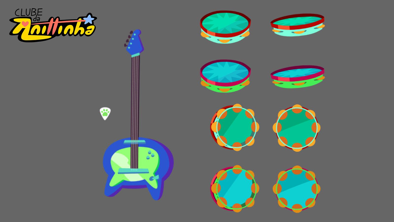 Prop Design - Guitar and Tambourine