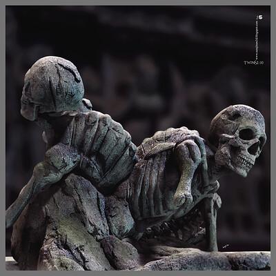 Surajit sen twins digital sculpture surajitsen june2020aa