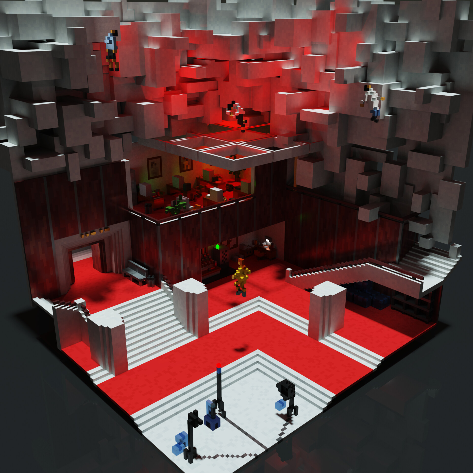 < Director Faden / Golden Executive > MagicaVoxel render - June 2020