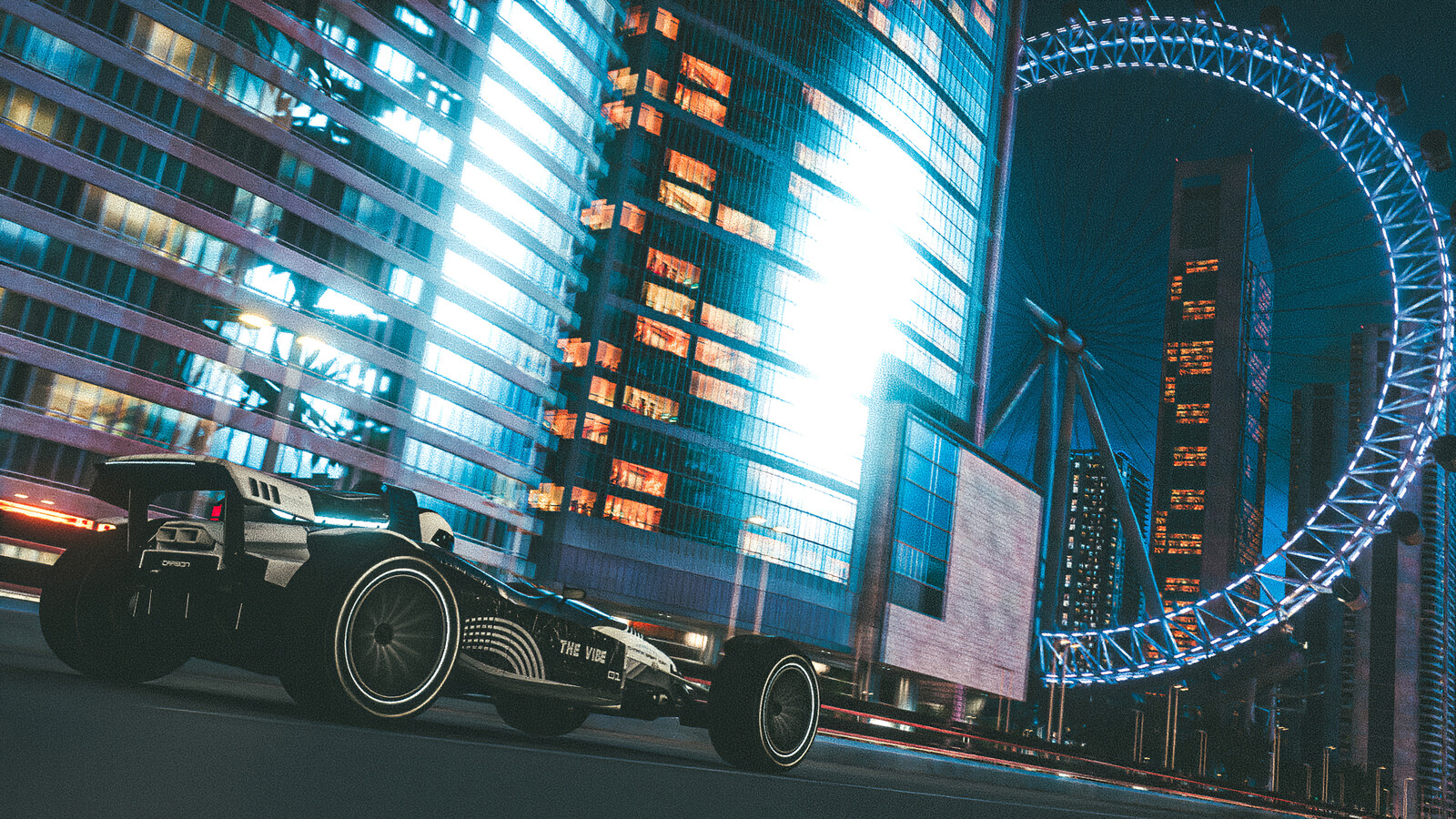Trackmania 2 : Lagoon City And Wheel By Night