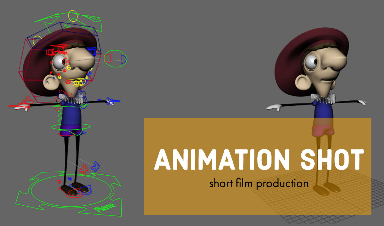 character rig: Pierre the Little Painter by Arconix Studios