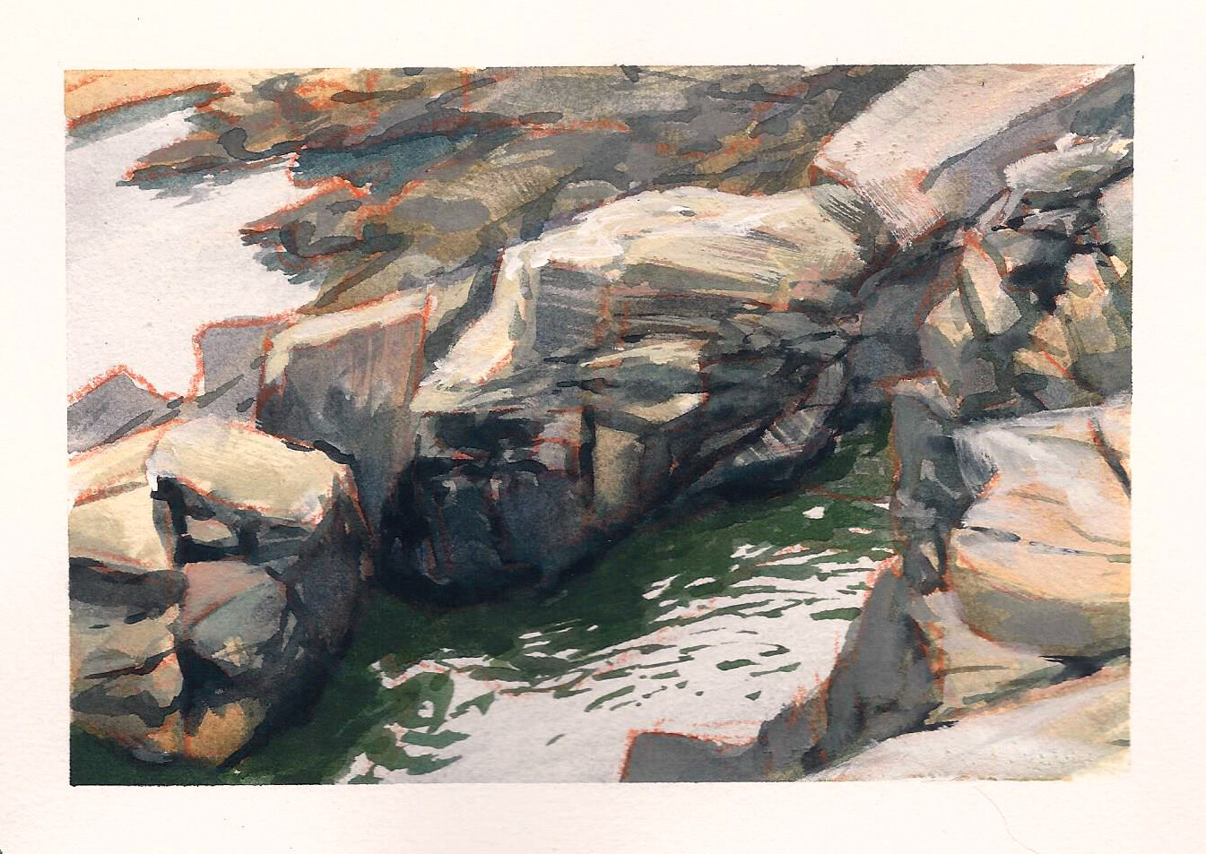 Photostudy of some rocks on the beach in Nova Scotia