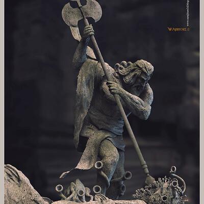 Surajit sen warrior2 0 digital sculpture surajitsen june2020a