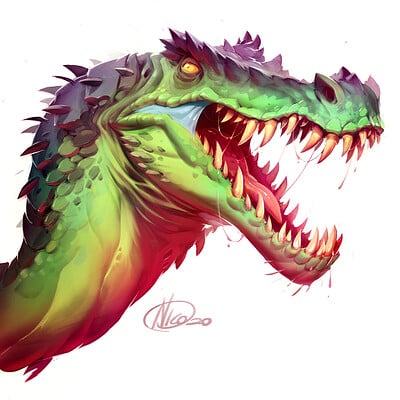 Nicola saviori dinosheadsbarionix