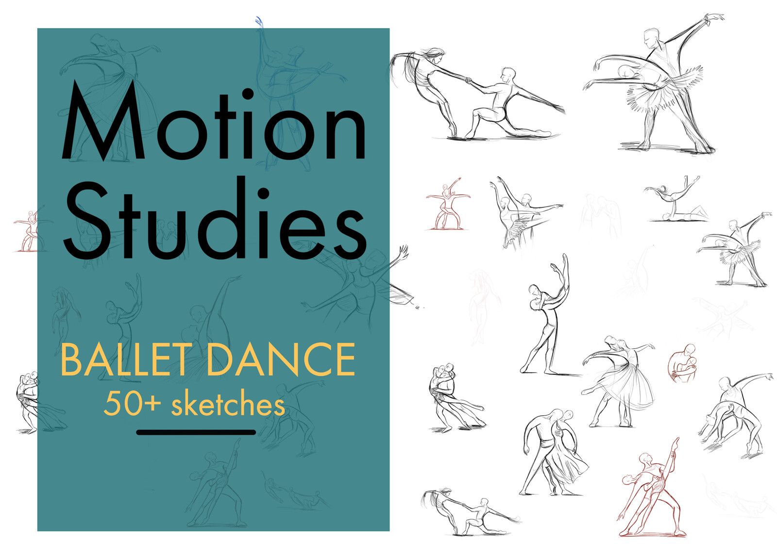 Ballet Motion Study, 50+ sketches