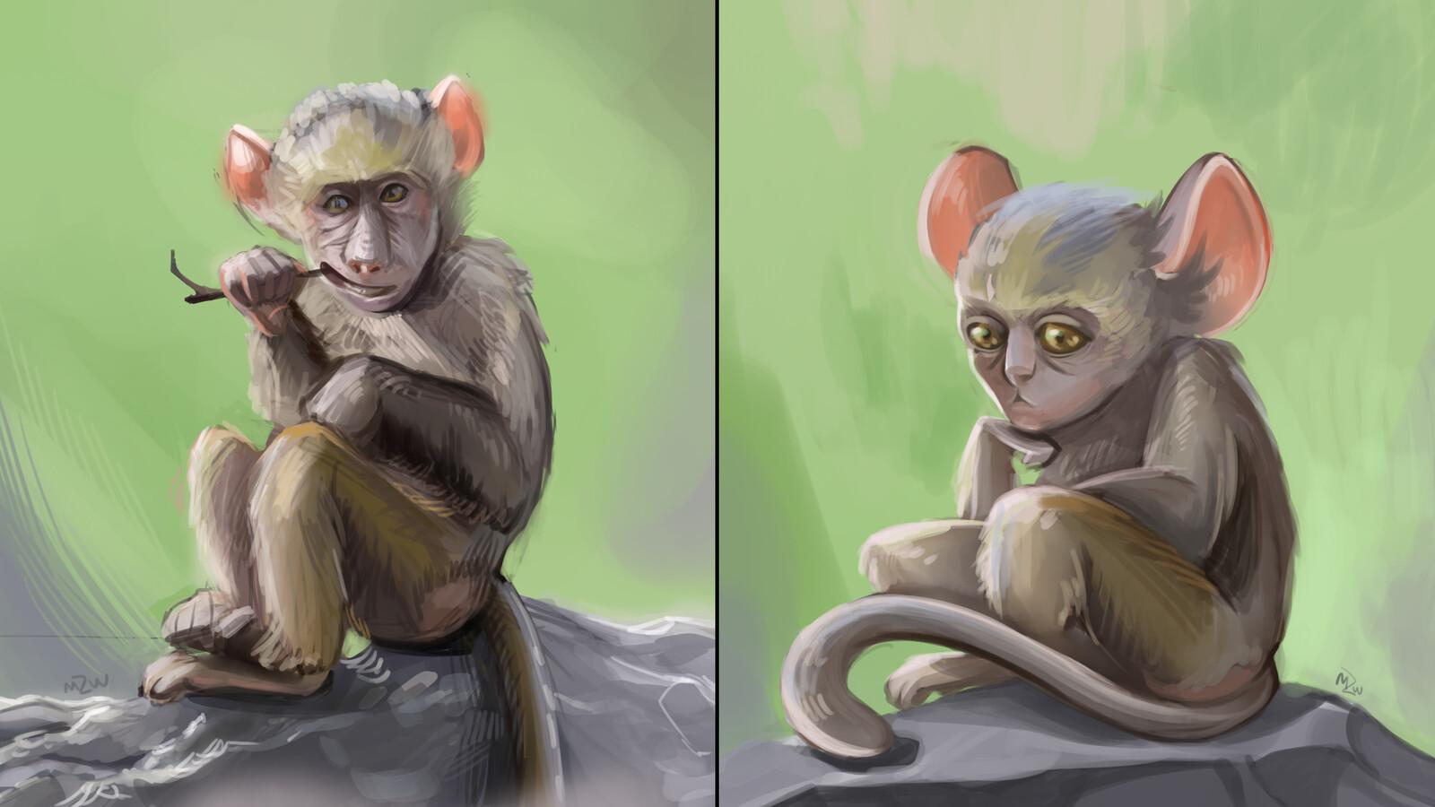 Two monkey studies. Each took around 90 minutes :-D