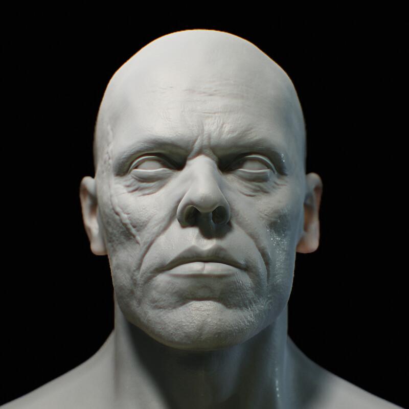 Head Sculpt for a W.I.P Chracter v5
