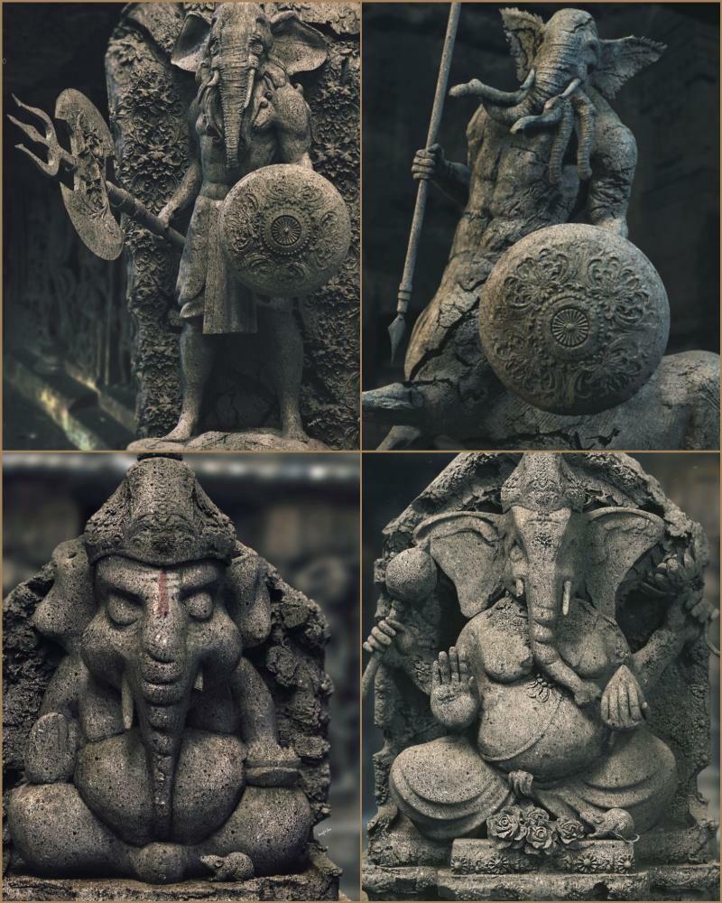 Gajanan Series My study works.... Digital Sculptures. Background music- #hanszimmermusic www.artstation.com/surajitsen  #surajitsen #artist #indianartist #digitalsculpting #study #contemporary