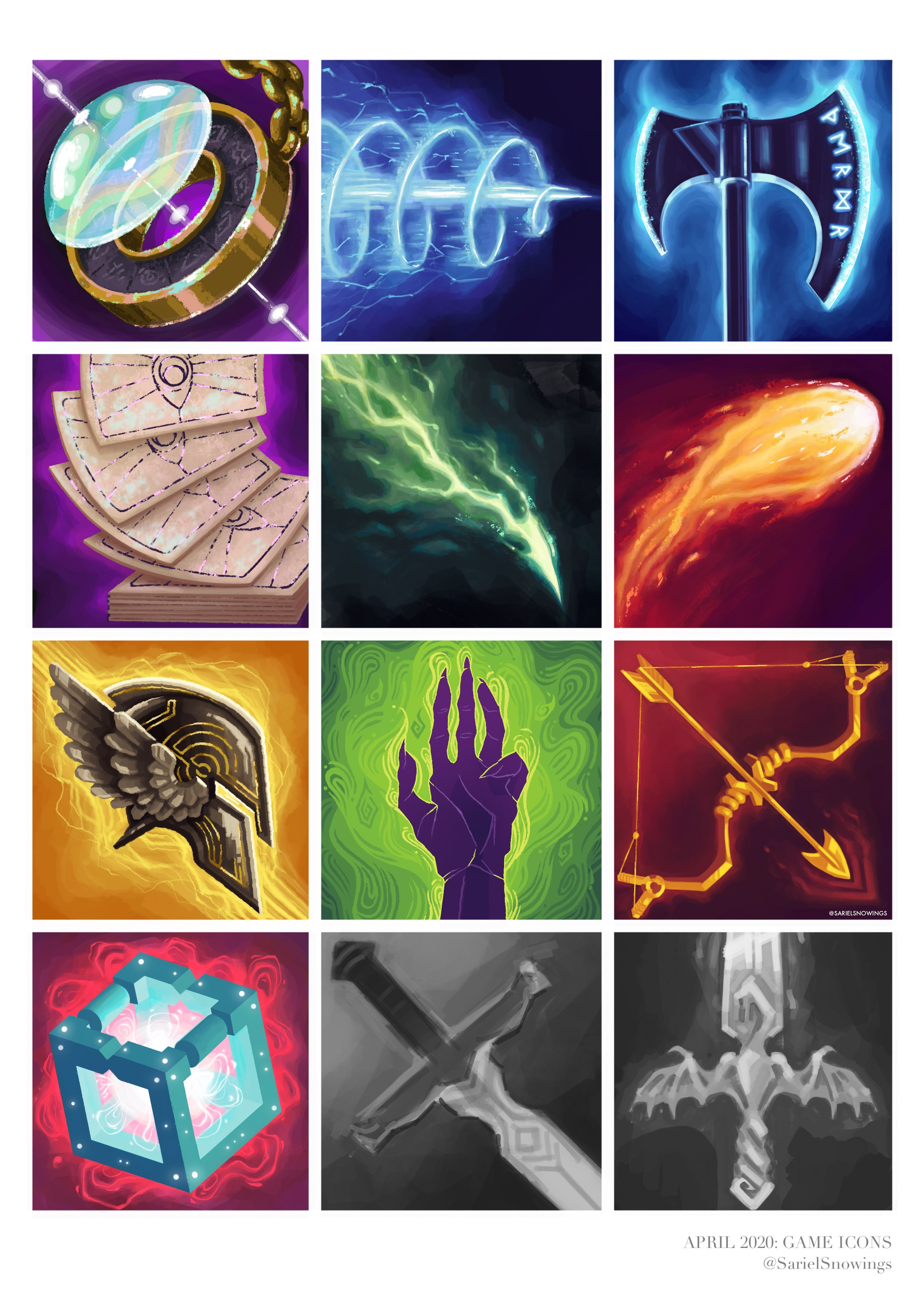 Here's a compilation of ALL the icons I made in April, both finished and unfinished. Posted above it HQ are my 6 favourites.