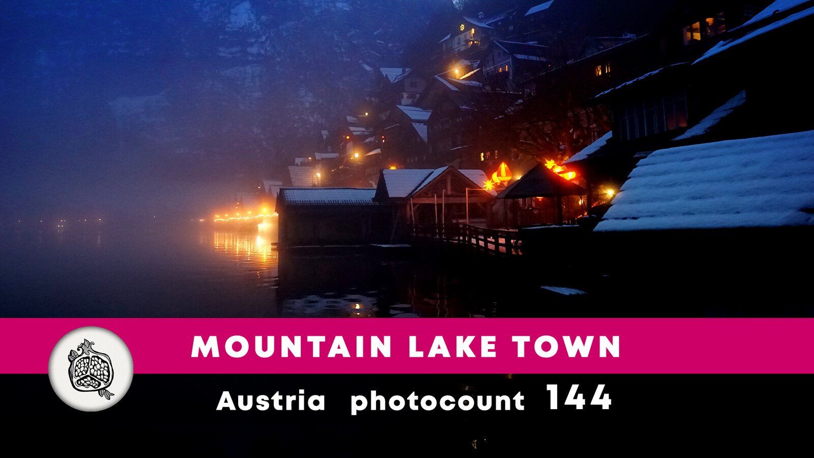 Mountain lake town