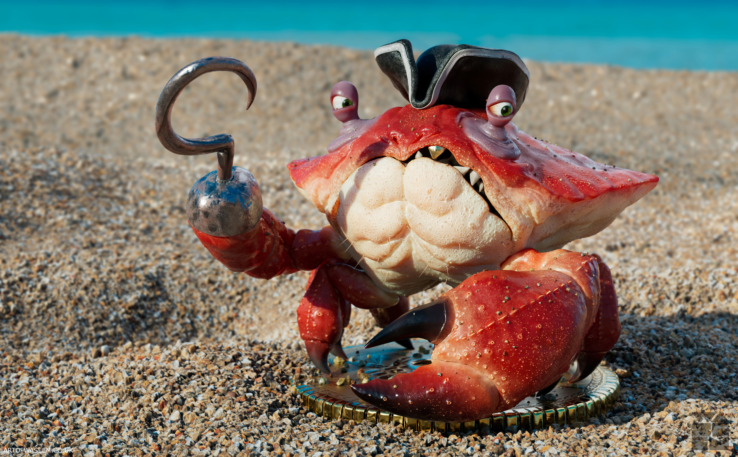 Pirate Crab Sandy Beach